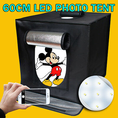 "Large 24"" 60CM Photo Softbox Lighting Cube LED Tent Soft Box Light Stand Kit AU"