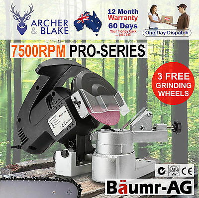 NEW 320W Chainsaw Sharpener Baumr-AG Chain Saw Electric Grinder File Pro Tool