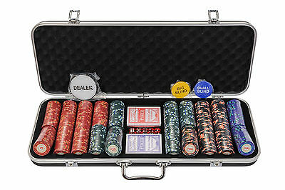 Riverboat Casino Poker Chips Set - 14g 500 Pcs Numbered Poker Set (£20 off!)