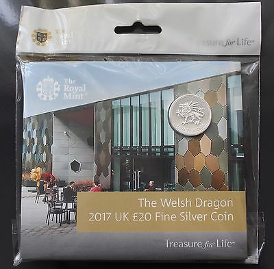 NEW 2017 The Welsh Dragon £20 Fine Silver Coin - Royal Mint Experience Exclusive