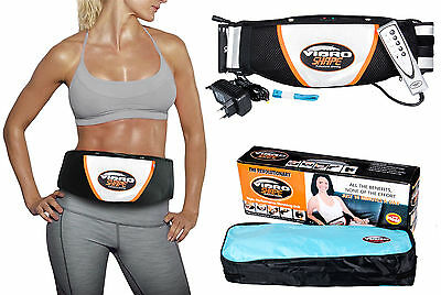 Heat Vibro Slimming Shape Toning Vibration Belt Tummy Body Massage Massager BA