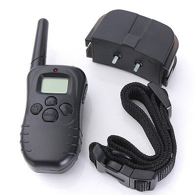 Electric Trainer Waterproof E-Collar Remote Pet Safe Dog Shock Training Collar W