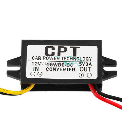 DC-DC Step Down Converter 12V to 5V 3A 15W Regulator Power Supply Without USB