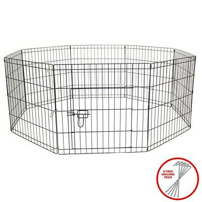 Pet Dog Pen Puppy Rabbit Foldable Playpen Enclosure Run Cage Large Height 91cm