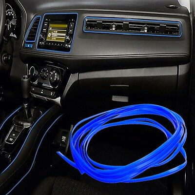 10M Universal Car Styling Flexible Interior Decoration Moulding Trim Strips Blue