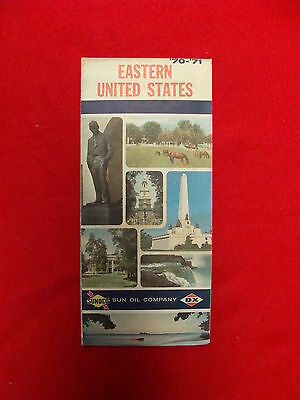 Vintage Sunoco DX road map eastern United States1970-71