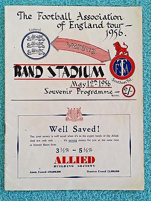 1956 - SOUTHERN TRANSVAAL v ENGLAND PROGRAMME - SOUTH AFRICA TOUR
