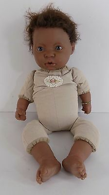 Berenguer African American Reborn Doll Cloth Weighted Body Needs TLC