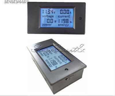 DC 6.5~100V 50A DC LCD Voltage KWh Watt Car Battery Panel Power Monitor Meter