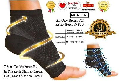 2x Compression Wear Foot Pro Relieves Plantar Fasciitis Heel Pain Sleeve Socks