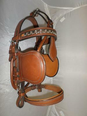 *schroeder Pony Driving Bridle- Nut Brown- Decorative Browband- Steel Fittings*