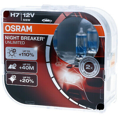 H7 OSRAM Night Breaker UNLIMITED +110% Scheinwerfer Lampe DUO-Pack NEU