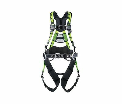 Miller AAT-QCSMG Tower Climbing Full Body Harness, Front & Side D-Rings