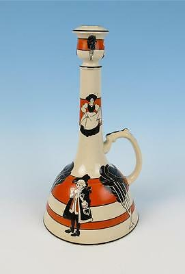 Antique Frederick Rhead Wardle Pottery Georgian Large Candlestick Staffordshire