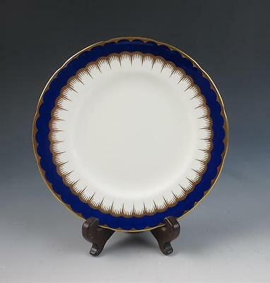 "Coalport BUCKINGHAM 6"" Bread Plate China Cobalt Gold England Porcelain Scalloped"