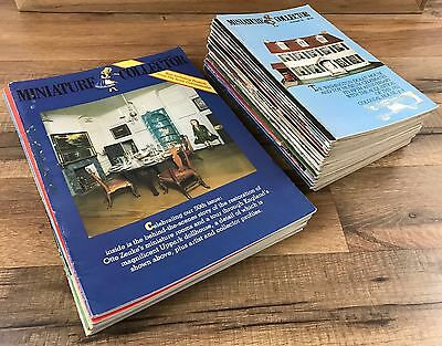 Vtg 1980s Miniature Collector Magazine 32 Issues Dollhouse Furniture Accessories
