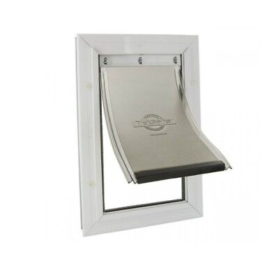 STRONG ALUMINIUM DOG CAT DOOR FLAP PETSAFE SMALL EXTRA 600ML 30x22cm White