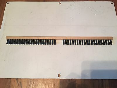 """Clipper model M2-B Fanning Mill, Seed cleaner replacement brush 20"""" long."""