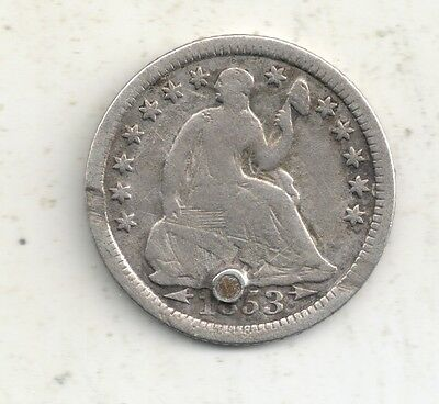 1853 with Arrows  Seated Liberty Half Dime 90% Silver