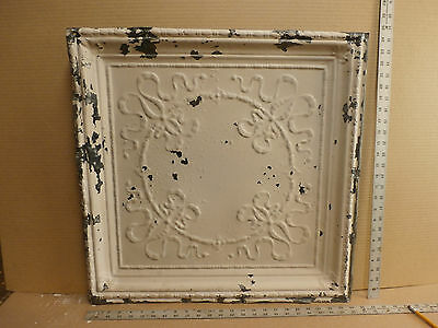"Antique Decorative Tin Ceiling Tile Panel Vintage Metal 2' x 2' (24"" x 24"")"