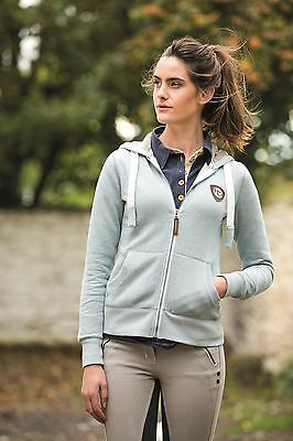 Horseware Ladies HERRINGBONE HOODY Zip Cotton Dusky Blue XXS-XXL