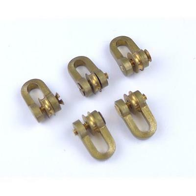 5 x Aero Naut Brass Shackles With Roller Model Boat Accessories
