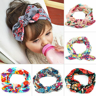 Bow Headband Kids Girls Baby Toddler Floral Hair Band Accessories Headwear Lot
