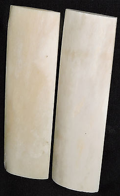 2 Camel Bone Scales 5x1.5x1/4 Knifemaking Bone Handles Bladesmith Razor Scales