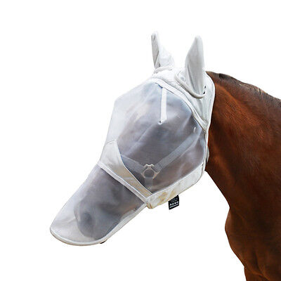 Harrison Howard horse/pony Fly Mask Hood mesh Fleece padded with nose and ears