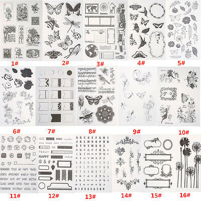 New Silicone Stamp Seal Clear Scrapbooking Diary Christmas Card DIY 16 Patterns