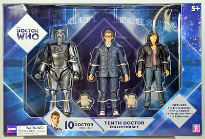 Doctor Who TENTH DOCTOR COLLECTOR SET Tenth Doctor, Sarah Jane Smith, Cyberman
