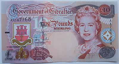 2006 Gibraltar 10 Pound Banknote UNC Pounds Uncirculated