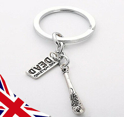 Walking Dead Keyring - Negan Bat - Metal Lucille - Rick Daryl - UK