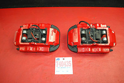 Porsche 958 Cayenne GTS Pair Rear Brake Calipers Left Right Brembo Big Red OEM