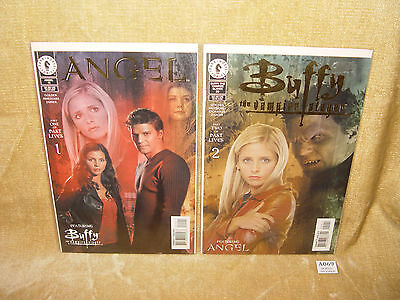 DARK HORSE COMICS BUFFY ANGEL PAST LIVES PARTS 1 & 2 DFE GOLD FOIL COVERS + COAs
