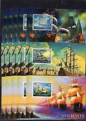15x Boats/Ships- imperf.,private issue -(B10)