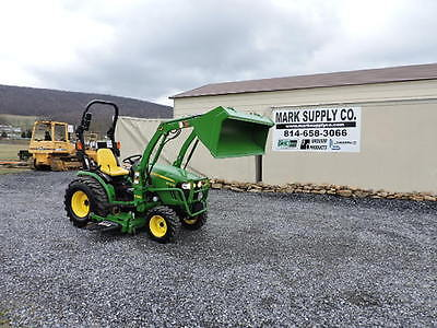 2014 John Deere 2032R Compact Tractor Loader Belly Mower Diesel Engine 4X4 !!!