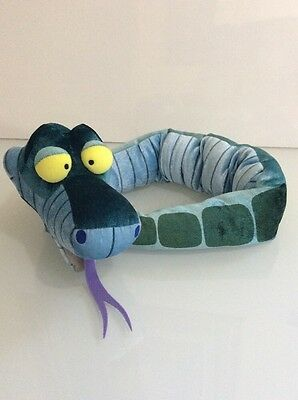 "Disney Store Plush 40"" Plush POSEABLE KAA SNAKE Large JUNGLE BOOK Bendable Big"