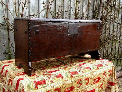 Very small 17th century Boarded Child's Chest c.1640. English.Oak