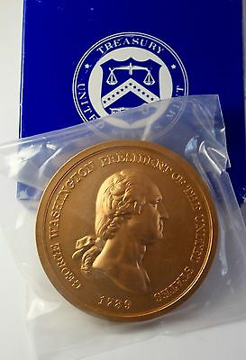 """G. WASHINGTON  3"""" Bronze Medals From The US Mint"""