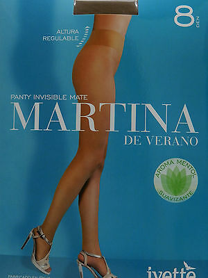 Media Panty Verano 8D Mate Cintura Regulable En Altura Tights Collants Ivette -