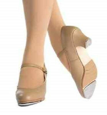 Econ-o-me HT37 Tan Women's Size 9 Medium Buckle Character Tap Shoes