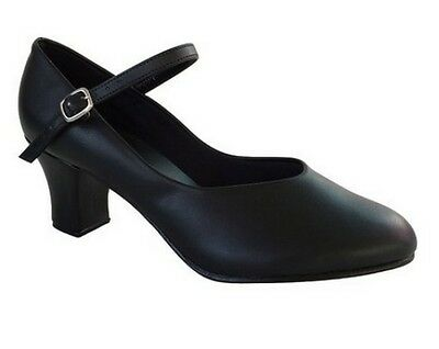 "So Danca CH52 Women's 4M (Fits 3.5) Black 2"" Heel Character Shoe (with Defects)"