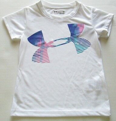Under Armour Toddler Girl's Graphic Tee, White, Size 2T, NWT