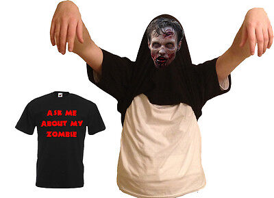 Ask Me About My Zombie Flip Funny Tee T-Shirt Top Tumblr Gift Secret Santa