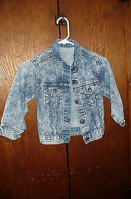 LITTLE LEVI'S Levi Youth Faded/Distressed Blue Jean Jacket Kids Size 7 Youth USA