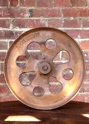 """Antique 15"""" Industrial Cast Iron Factory Cart Wheel Lineberry Coffee Table"""