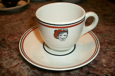 OPCO Syracuse China hotel railroad restaurant ware Demitasse set Cup Saucer face