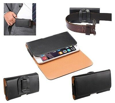 for HUAWEI ASCEND G330D U8825D Case Belt Clip Smooth Synthetic Leather Horizo...