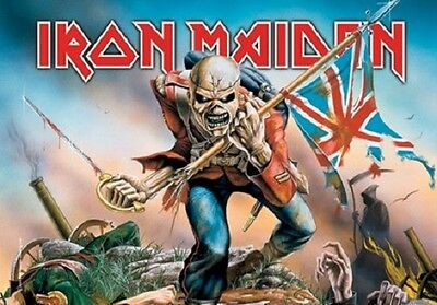 Iron Maiden Trooper Music  Flags Wall Hanger Made In Italy Licensed  L 0663